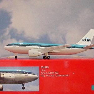 """Herpa 531573 Airbus A310-200 KLM """"Rembrandt"""" Modellismo"""