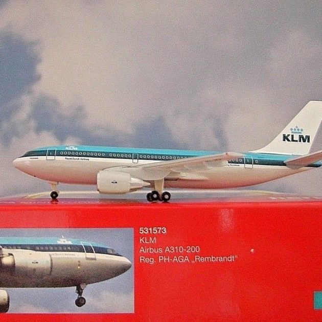 "Herpa 531573 Airbus A310-200 KLM ""Rembrandt"" Modellismo"