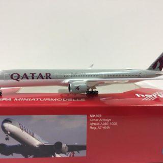 Herpa 531597 Airbus A350-1000 Qatar Airways Modellismo