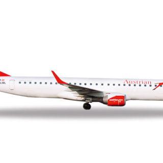 """Herpa 531641 Embraer E195 Austrian """"city of Prague"""" Modellismo"""