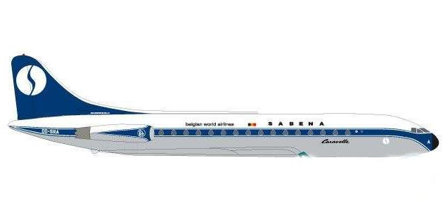 Herpa 531672 Careavelle  Sabena Sud Aviation Modellismo