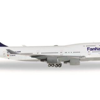 """Herpa 557313 Boeing 747-400 Lufthansa """"Fanhansa"""" Modellismo"""