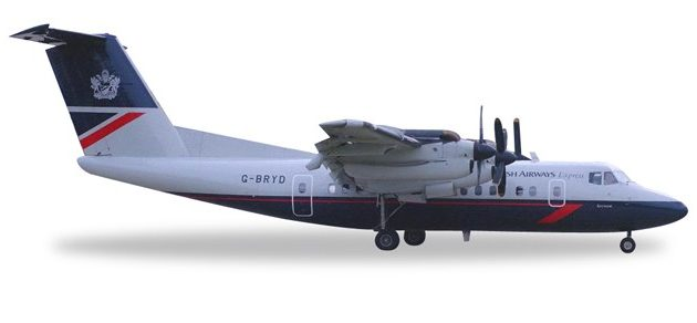 Herpa 558112 De Havilland Canada DHC-7 British Airways Modellismo