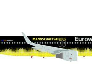 """Herpa 558167 Airbus A320 Eurowings """"BVB  Mannschaftsai Modellismo"""