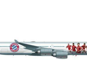 "Herpa 558242 Airbus A340-600 ""FC Bayern Audi Summer  U Modellismo"