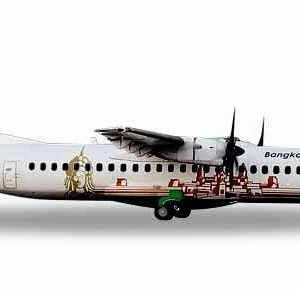 "Herpa 559164 ATR-72-500 Bangkok Airlines ""Angkor wat"" Modellismo"