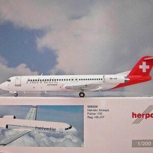 Herpa 559324 Fokker 100 Helvetic Airways Modellismo