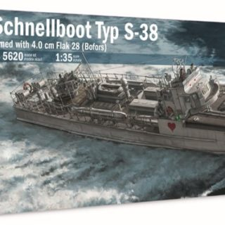 ITALERI 5620 Schnellboot Typ S-38 armed with 4.0 cm Flak 28
