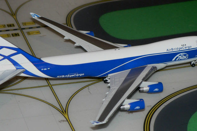 "Herpa 562201 BOEING 747-400F ""AIR BRIDGE CARGO"" Modellismo"