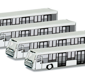 Herpa 562409 Bus aereoporto (4pezzi) Modellismo