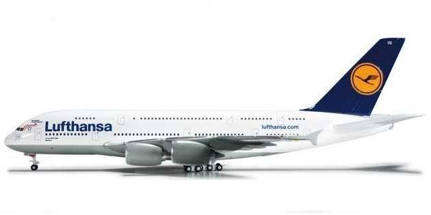 """Herpa 562423 Airbus A380  """"FC Bayern Munchen"""" Modellismo"""