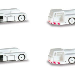 Herpa 562461 Scenix Airport set trattori (4 pezzi) Modellismo