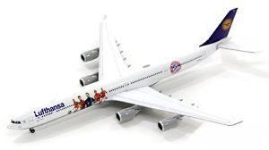 "Herpa 562553 Airbus A340-600 ""FC Bayern Audi Summer  U Modellismo"