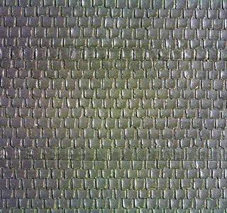 Noch 57329 Foglio muro 3D in mattonelle grigio scuro Modellismo