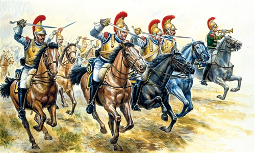 ITALERI 6003 Figurini Cavalleria Francese battaglia di Modellismo