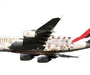Herpa 611077 Airbus A380 Emirates - Real Madrid Modellismo