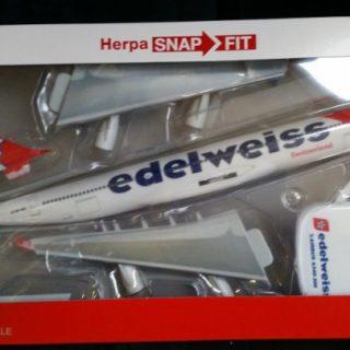 Herpa 611336 Airbus A340-300  Edelweiss Air Modellismo