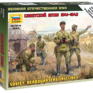 ZVEZDA 6132 Soviet Headquarter WWII include 4 figure NUOVO STAMPO