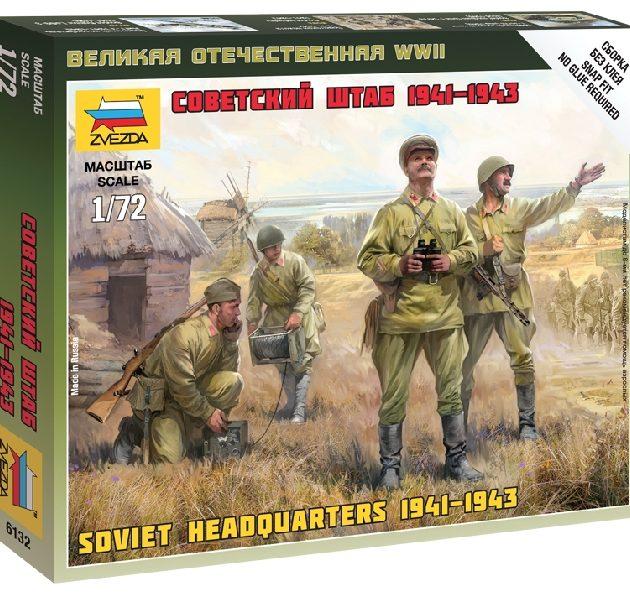 ZVEZDA 6132 Soviet Headquarter WWII include 4 figure NUOVO STAMPO