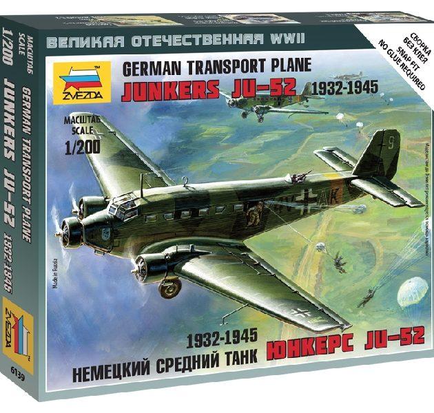 ZVEZDA 6139 Junkers Ju-52 Transport Plane