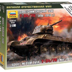 Zvezda 6159 SOVIET MEDIUM TANK T34/76