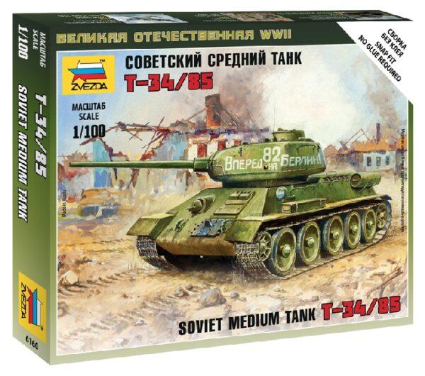 Zvezda 6160 SOVIET TANK T-34/85