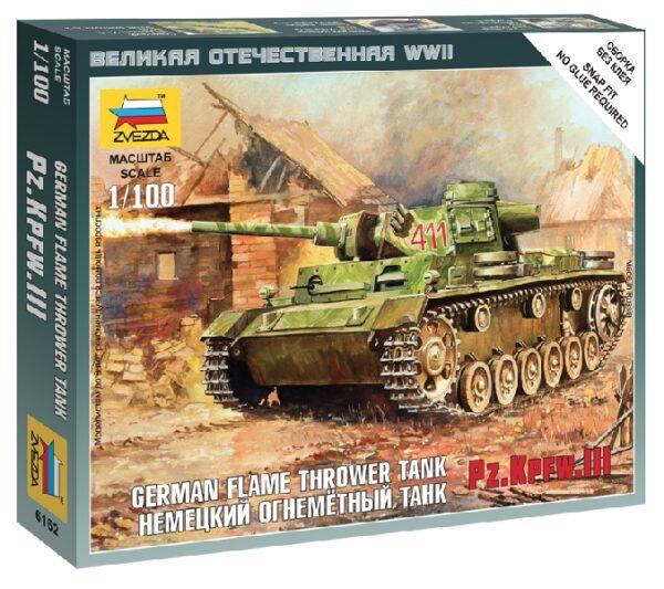 ZVEZDA 6162 Panzer Iii Flamethrower Tank