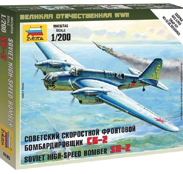 ZVEZDA 6185 Soviet Bomber Sb-2