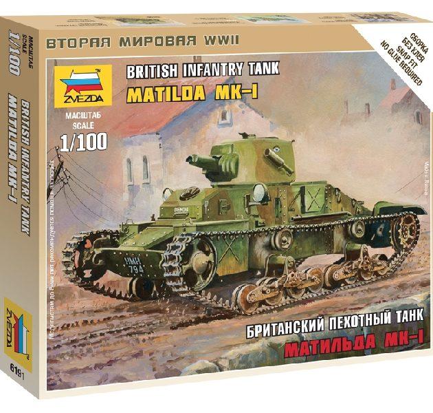 "ZVEZDA 6191 British Light Tank ""Matilda Mk I"""