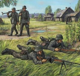 Zvezda 6216 German Anti Tank Rifle Team