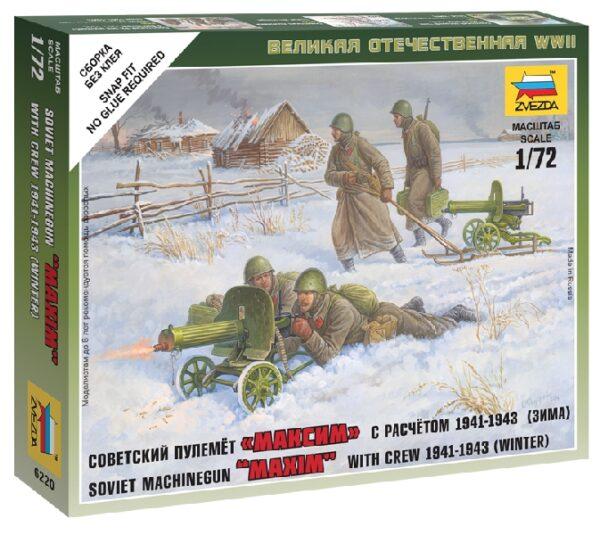 ZVEZDA 6220 Soviet Machine-Gun With Crew (Winter Uniform)