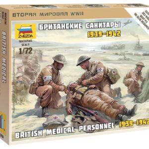 ZVEZDA 6228 British Medical Team WWII NUOVO STAMPO include 4 figure