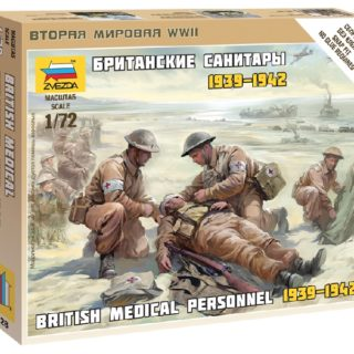 ZVEZDA 6228 British Medical Team WWII NUOVO STAMPO include 4 figure