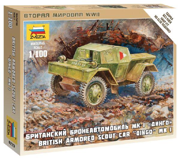 ZVEZDA 6229 British Armored Car Daimler Mk-1