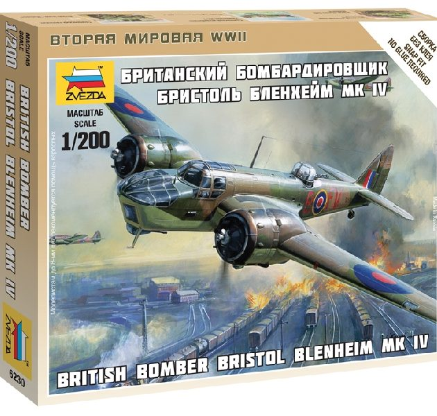 ZVEZDA 6230 British Bomber Bristol Blenheim Iv
