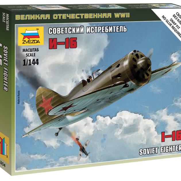 ZVEZDA 6254 I-16 Soviet Fighter NUOVO STAMPO