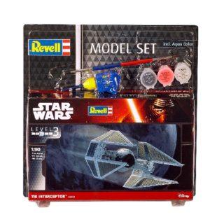Revell 63603 TIE Interceptor - incude colla colori e pennello