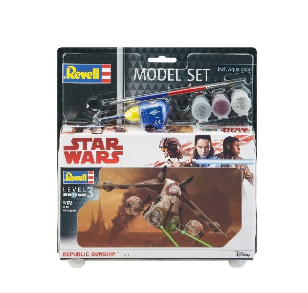 Revell 63613 1/172 MODEL SET REPUBLIC GUNSHIP Modellismo