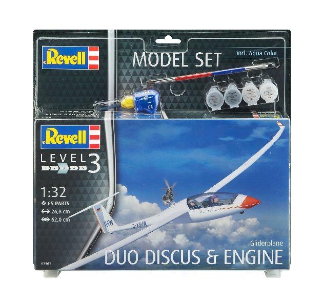 Revell 63961 MODEL SET GLIDERPLANE DUO DISCUS & ENGINE