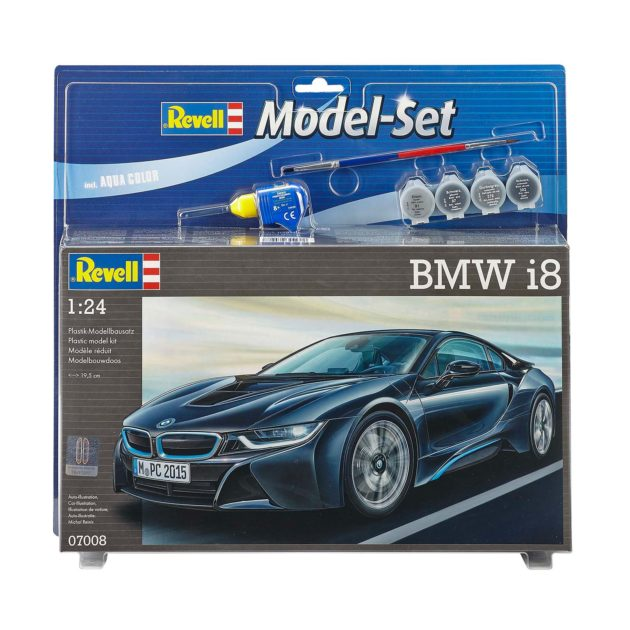 REVELL 67008 Model Set BMW i8 - include colla colori e