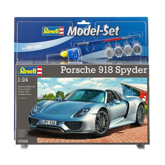 REVELL 67026 Model Set Porsche 918 Spyder - include co