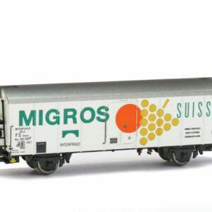 """Brawa 67114 Carro frigo UIC Standart  IV """"Migros FS"""""""