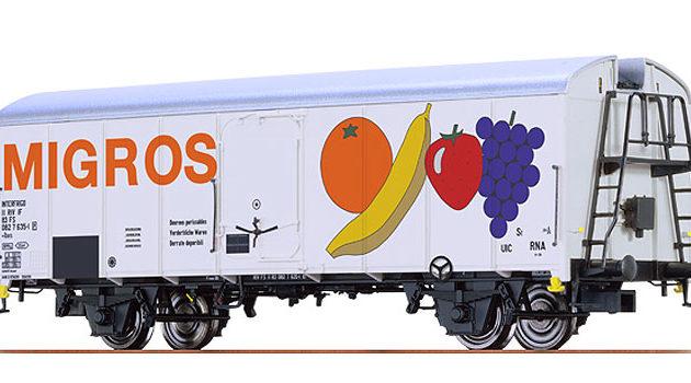 """Brawa 67115 Carro frigo UIC Standart IV """"Migros FS"""""""