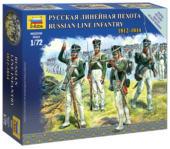 ZVEZDA 6808 Russian Line Infantry