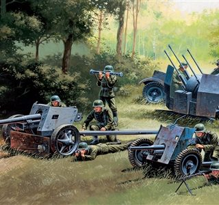 ITALERI 7026 German Guns Set: Pak35-Pak40-Flak38