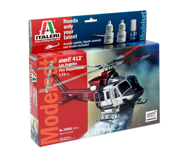 ITALERI 70391 Bell 412 Lafd -  (Kit + colori + colla +  Modellismo