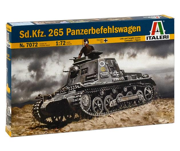 Italeri 7072 SD. KFZ. 265 PANZERBEFEHLSWAGEN Modellismo