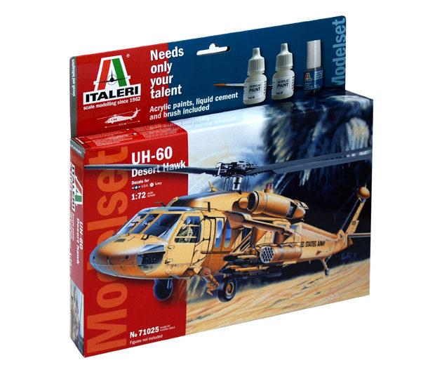 ITALERI 71025 Uh 60 Desert Hawk -  (Kit + colori + coll Modellismo