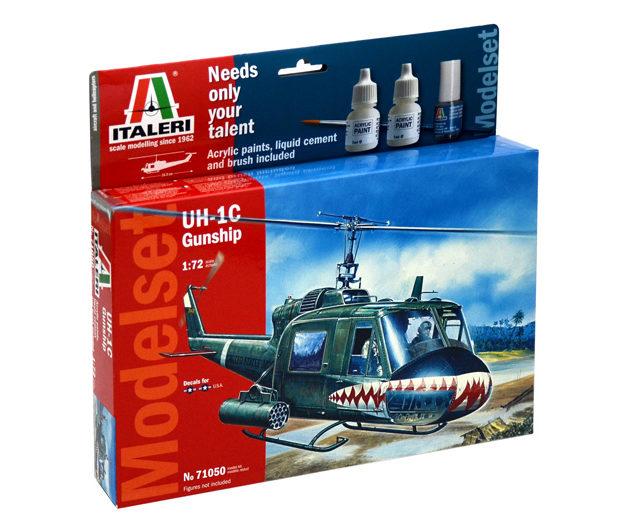 ITALERI 71050 Uh-1c Gunship  -  (Kit + colori + colla + Modellismo
