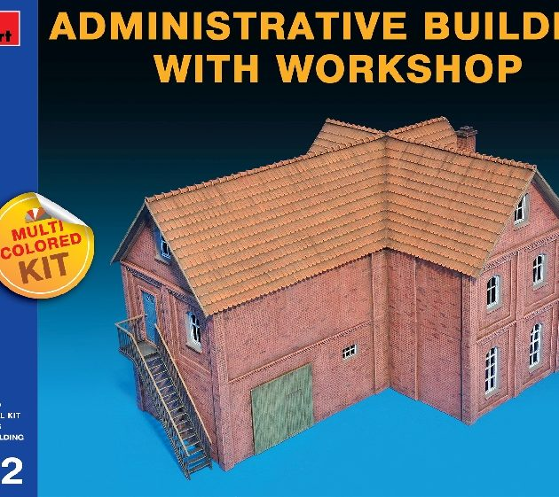 MINIART 72021 Administrative Building With Workshop Modellismo